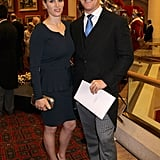 Zara Phillips wore a Herve Leger peplum skirt suit.
