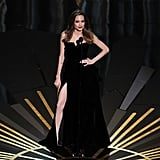 Angelina Jolie looked sexy onstage.
