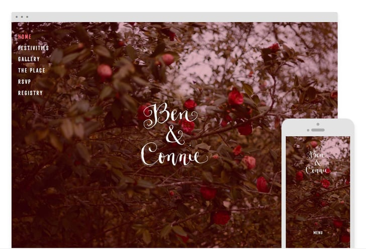 Wedding Site Templates That Are Drop-Dead Gorgeous