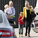 Gwen Stefani took her sons to an ice-skating rink in LA.