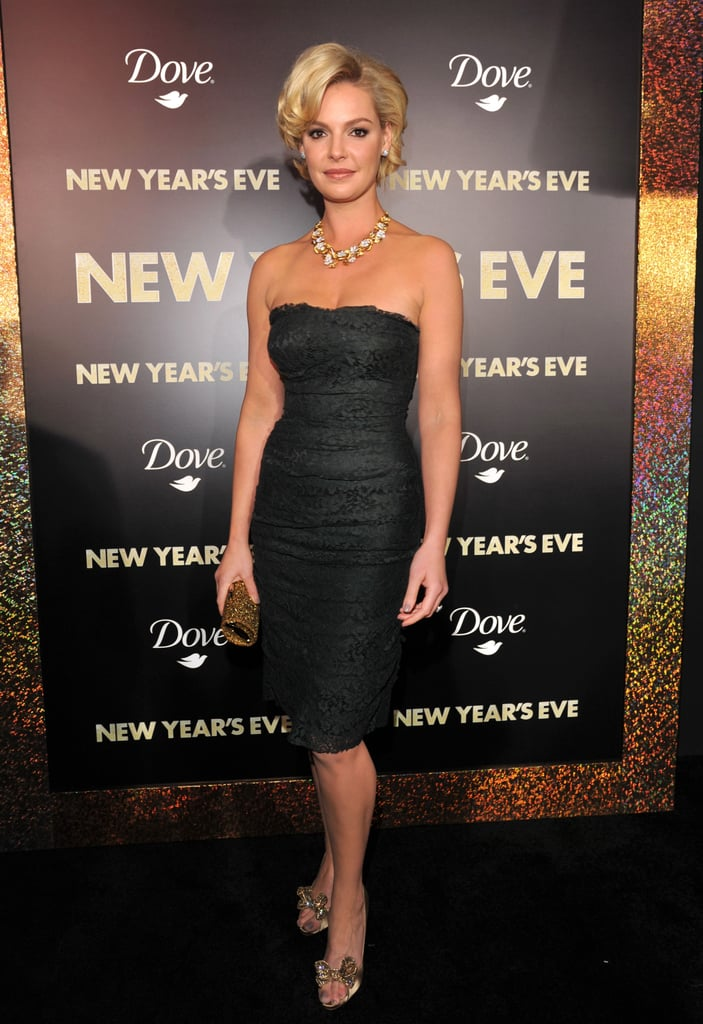 Katherine Heigl went for a polished look at the premiere of New Year's Eve.