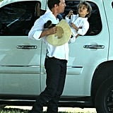 Matthew McConaughey and son Levi headed out to lunch on Easter Sunday in Texas.