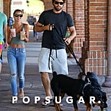Brody Jenner took his dogs for an errand run with his girlfriend Kaitlynn Carter in Malibu, CA, on Sunday.