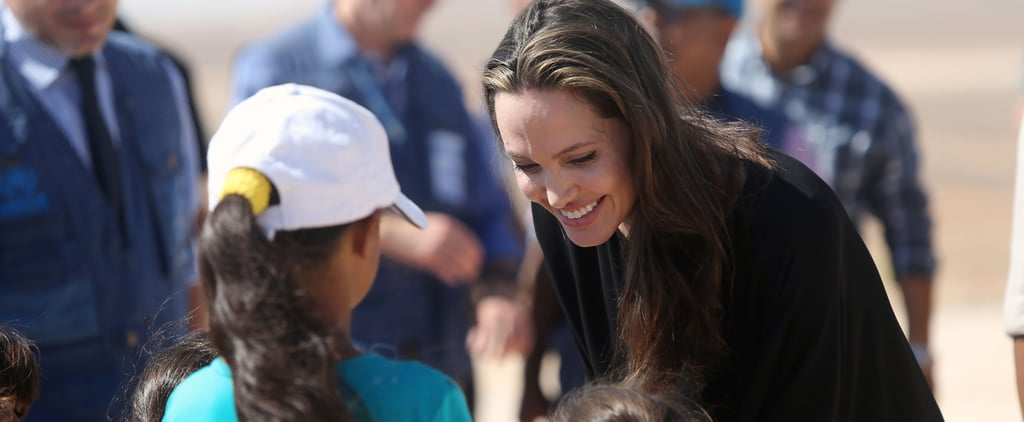 Angelina Jolie Talks About Her Kids While Visiting a Refugee Camp in Jordan
