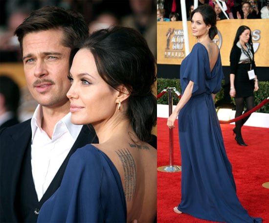 Angelina and Brad Hit the SAGs in Stride