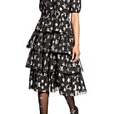 Halogen x Atlantic-Pacific Metallic Star Chiffon Dress