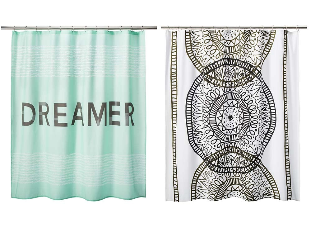 room essentials dreamer shower curtain in mint 15 room essentials placed medallion shower