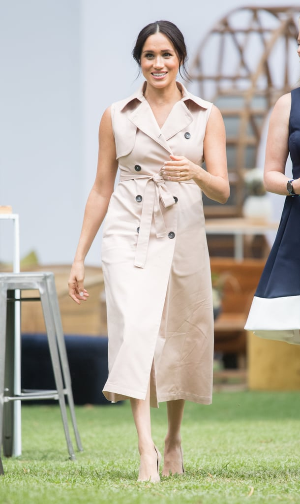 Meghan Markle Wearing a Nonie Trench Dress