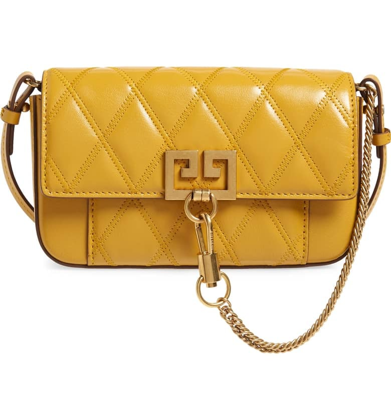 5e7b8f605970 Givenchy Mini Pocket Quilted Convertible Leather Bag
