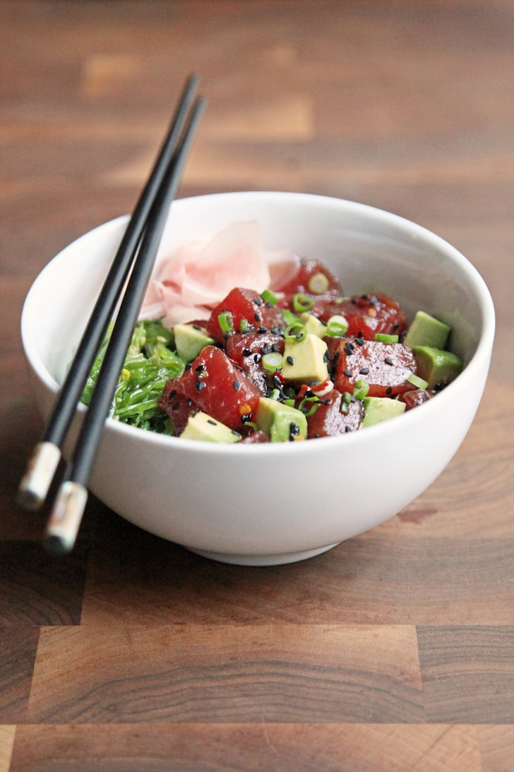 Tuna Poke Bowl Homemade Sushi Recipes Popsugar Food