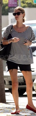 Nicky Hilton Shops Wearing Striped Jet by John Eshaya Top