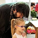 Ben Affleck with Violet at the farmers market in LA.