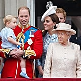 Prince George Attended His Very First Trooping the Colour