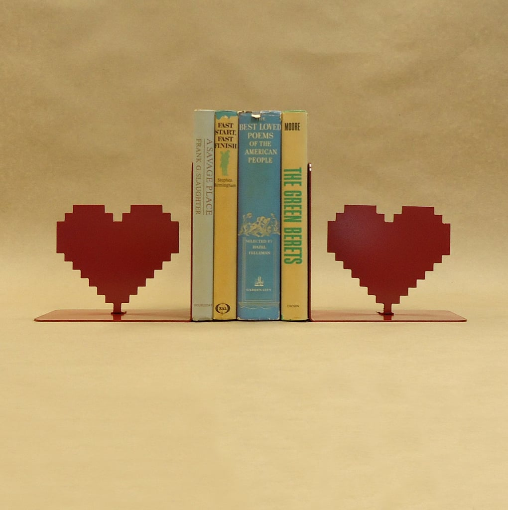 Because our hearts beat for a good read (and any nod to vintage tech!), we'll take these pixel bookends ($65), please.