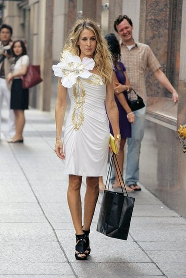 SATC Movie Sneak Peek! Carrie's Flower Power Dress: Love It or Hate It?