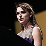 Natalie Portman addressed the audience at the 2012 Elie Wiesel National Tribute Dinner.