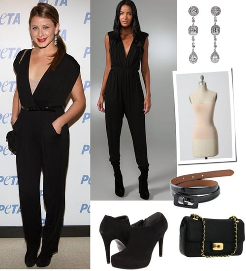Lo Bosworth Wears a Black Jumpsuit at New York Fashion Week