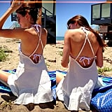 Kendall Jenner hit the beach in a cute cover-up. Source: Instagram user kendalljenner