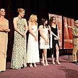 Penelope Cruz, Greta Gerwig, Alison Pill, Alessandra Mastronardi, Simona Caparrini, and Woody Allen took to the stage at the premiere of To Rome With Love in LA.