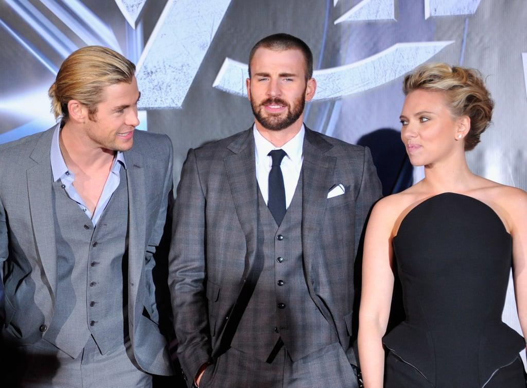 Pictured Chris Hemsworth Chris Evans And Scarlett Johansson Avengers Cast Red Carpet Pictures Over The Years Popsugar Celebrity Australia Photo 8