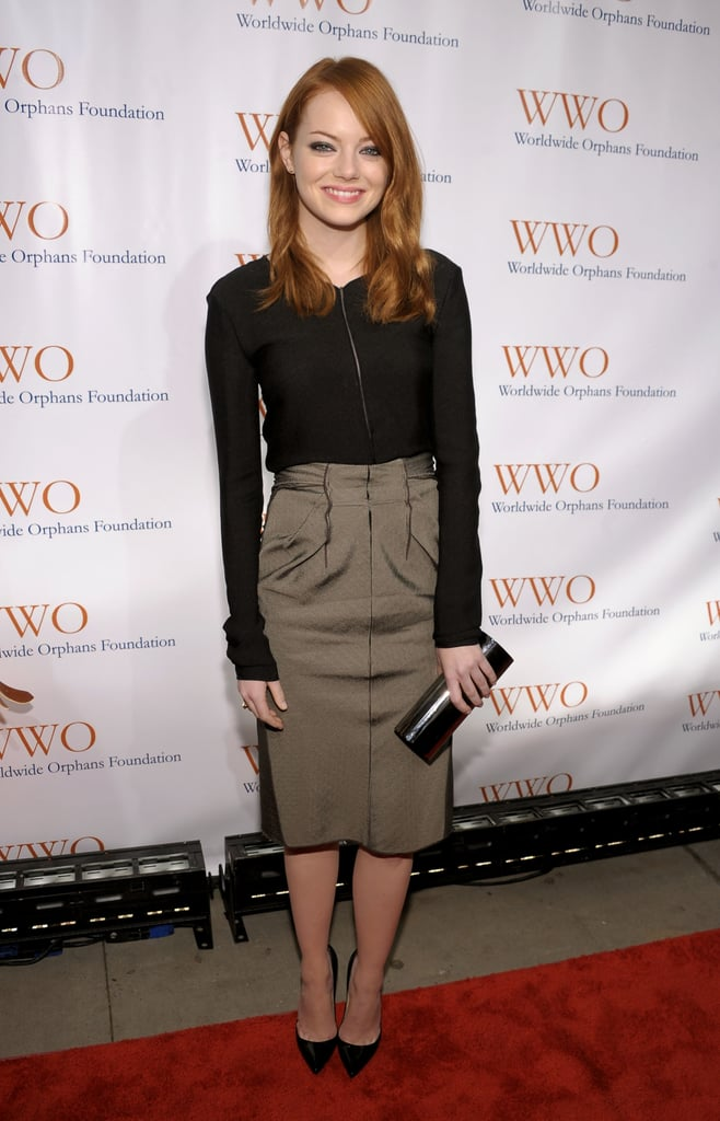 She stepped out for the Orphans Foundation's seventh annual benefit in NYC in head-to-toe minimalist chic Calvin Klein in November 2011.