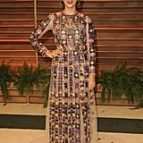 Rashida Jones went for a patterned look.