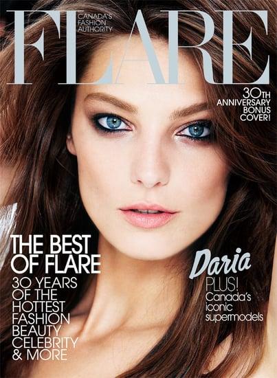 Daria Werbowy does Flare Canada-sept 09
