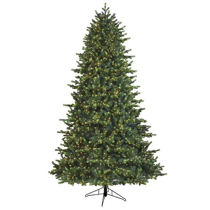 GE 7.5-ft Georgia Fir Pre-Lit Traditional Artificial Christmas Tree with 1600