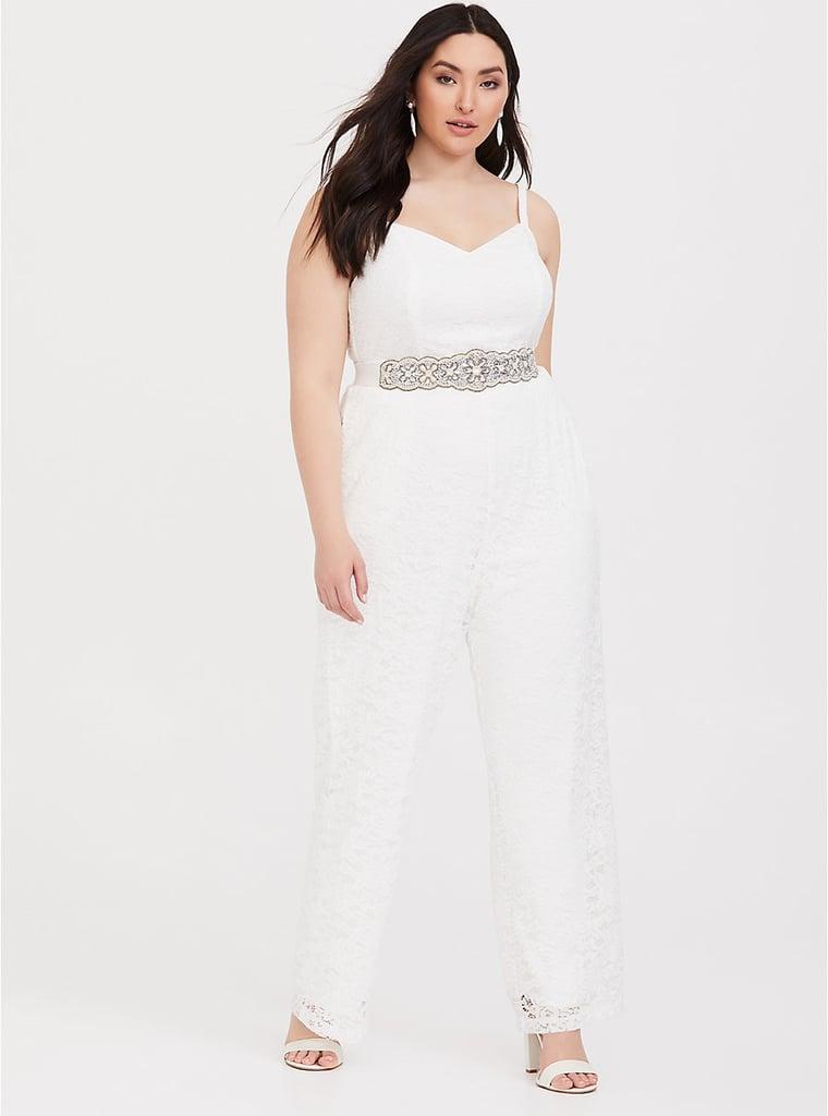 ead68d4ca4c Torrid Special Occasion White Lace Jumpsuit