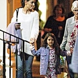 Suri and Katie Holmes Have Girls Night Out in Manhattan