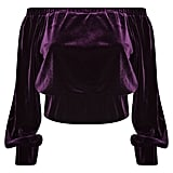 Velvet Bardot Top (£28)