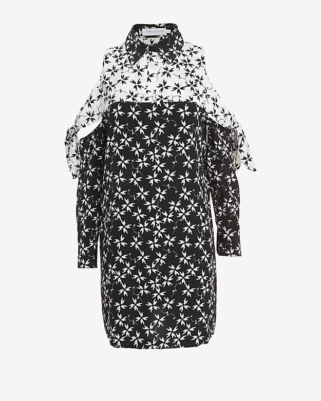 Tanya Taylor Cutout Shoulder Print Dress ($545)