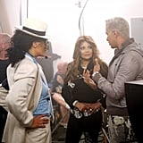 Latoya Jackson and Jay Manuel took a moment to give Dominique advice.  Photo courtesy of CW