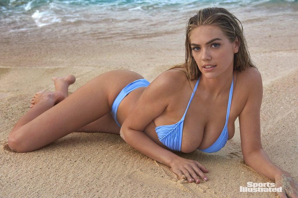 Kate Upton's Blue Bikini in Sports Illustrated 2018