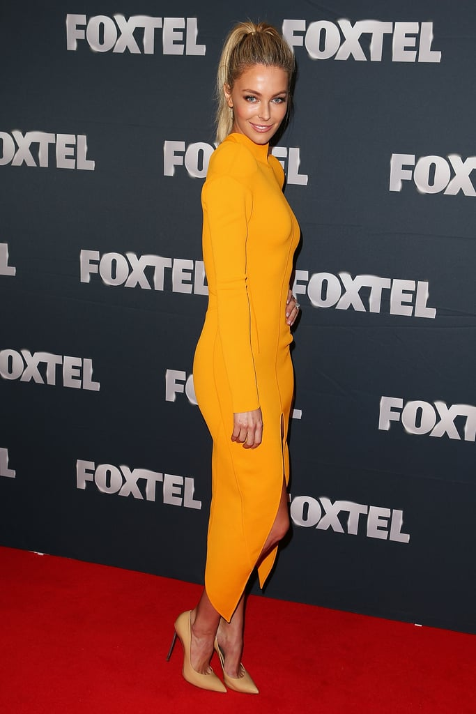 Jennifer Hawkins Is Foxtel's Golden Girl: See Her Sunny Look from All Angles