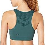 Core 10 Women's Light Support Seamless Mesh Yoga Bralette Sports Bra
