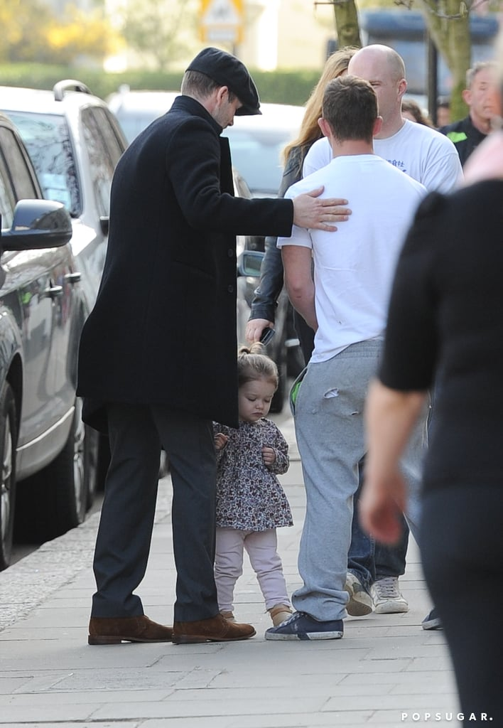 David Beckham Hangs With Harper Following His Soccer Victory