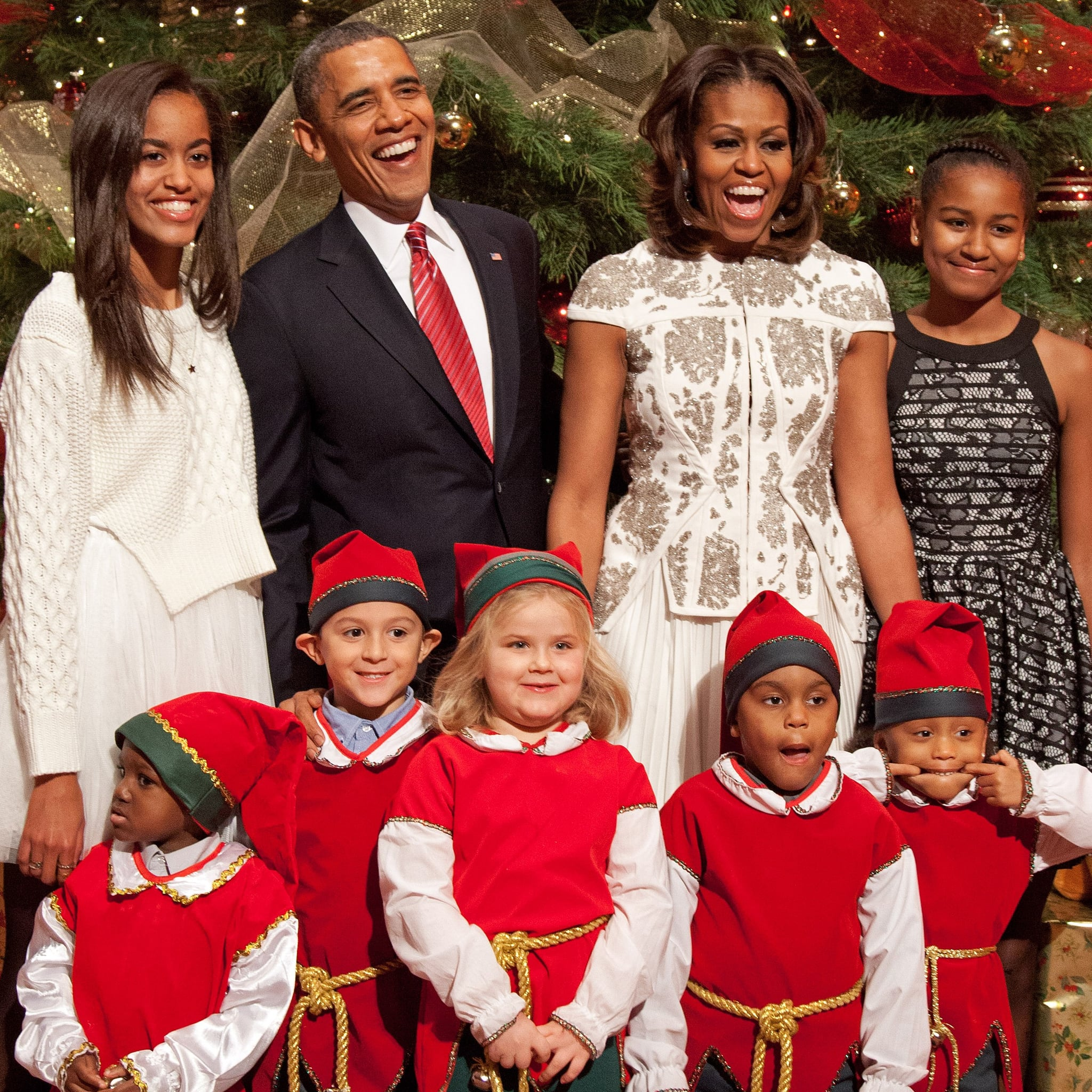 Obama Family Christmas Card December 2016 | POPSUGAR Celebrity