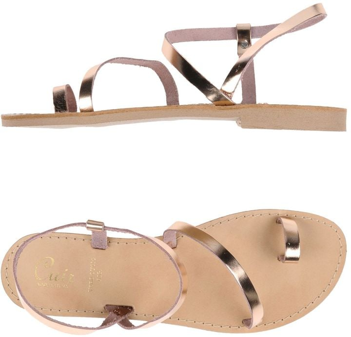 Free your toes with CUIR toe-strap sandals ($60).