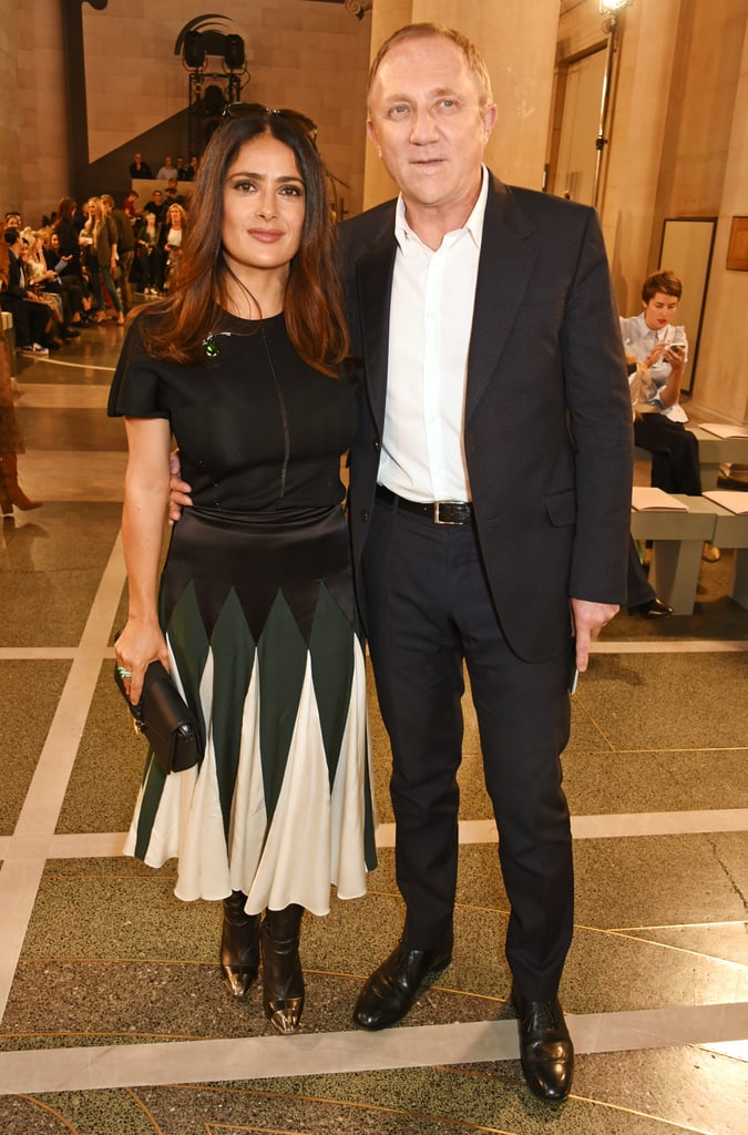 Salma Hayek Kicks Off LFW in the Eye-Catching Fall Outfit You'll Want to Wear to Work