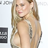 A side shot of Bar Refaeli's slinky gown.