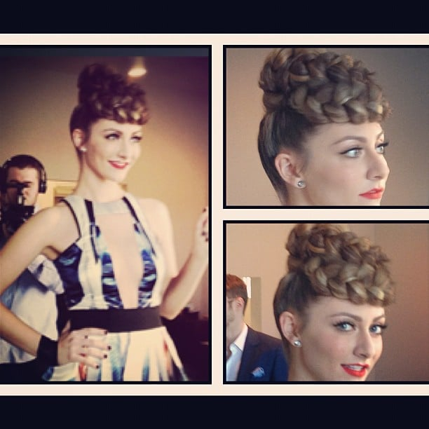 Amy Heidemann of Karmin stepped out in an intricate braid for the AMAs. Source: Instagram user lightaaron