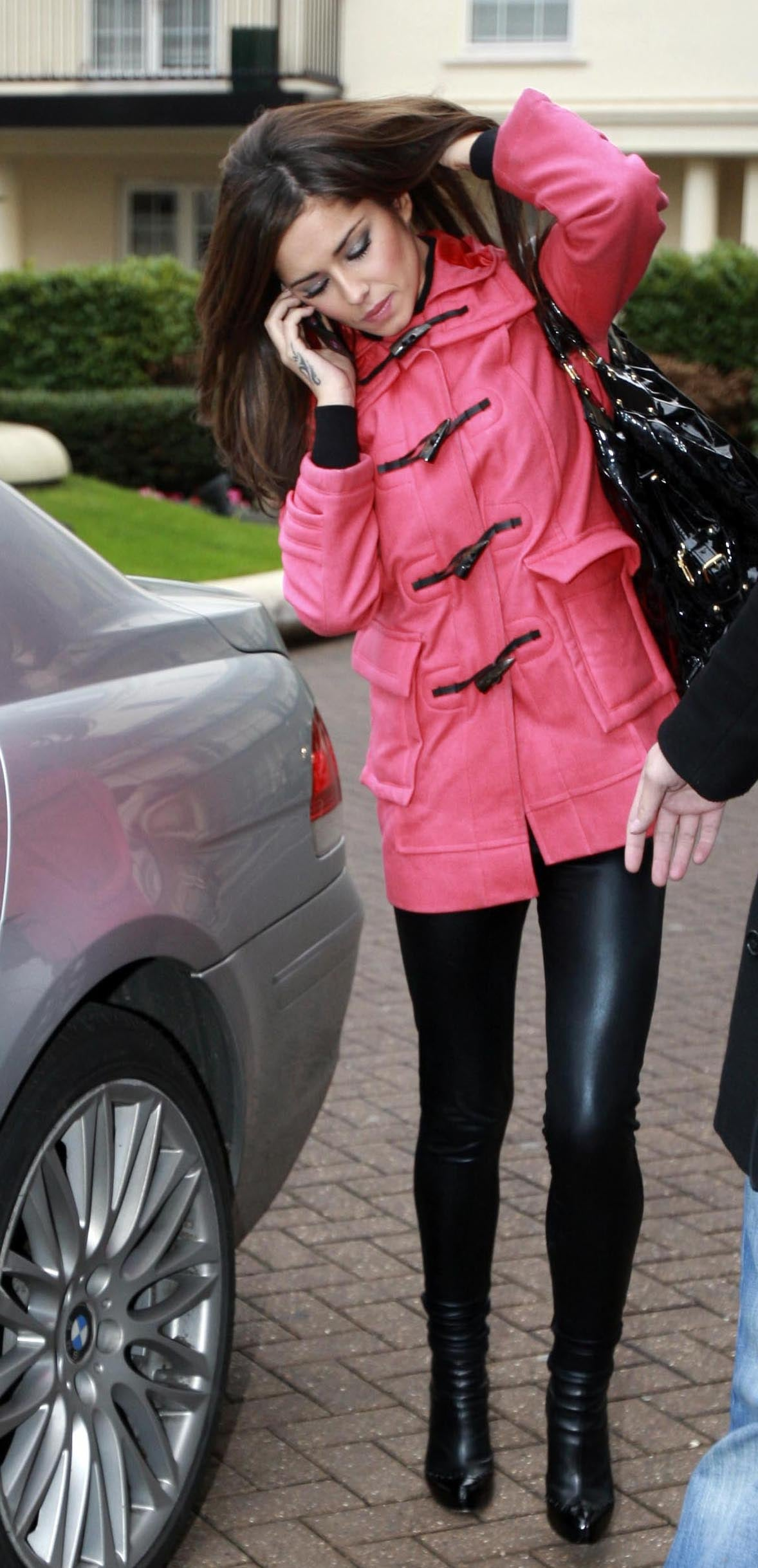 Photos Of Cheryl Cole Snug In A Mulberry Duffle Coat And PVC ...