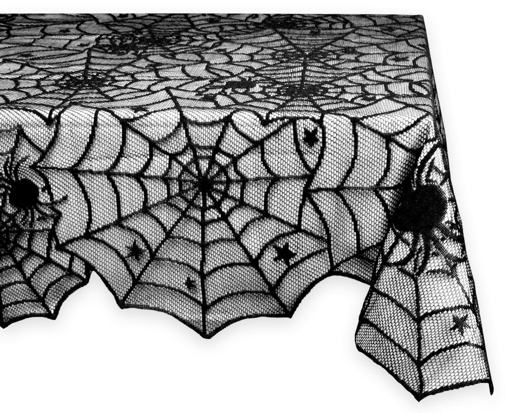This Black Spider Web Tablecloth ($10) Is Like A One Step Halloween Makeover