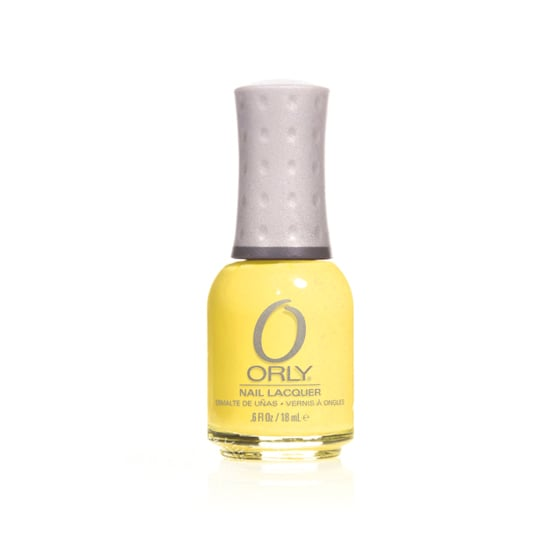 Orly is bringing a fresh update to sunny yellow polish with its Melodious Utopia ($9), which features tiny flecks of pink glitter.