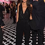 Like Gwyneth, Demi Moore selected something supersexy for the night. In lieu of a wrap dress, she picked a sequined jumpsuit by the brand.