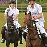 When William and Harry Competed in a Polo Match