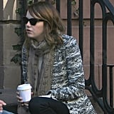 Emma Stone had coffee in NYC.