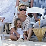 Kate Hudson and son Ryder grabbed a seat in the sand in Cabo San Lucas for Oliver Hudson's wedding in June 2006.