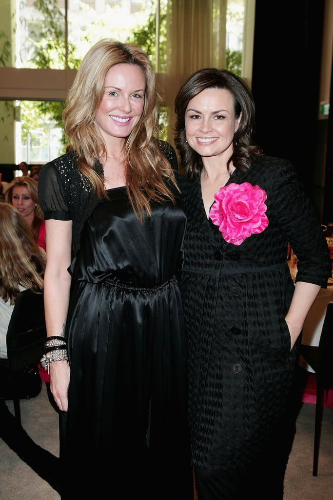 With Charlotte Dawson at the McGrath Foundation Ladies High Tea in Oct. 2009.